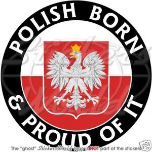 POLAND-Polish-Born-Proud-100mm-4-Vinyl-Bumper-Sticker-Decal