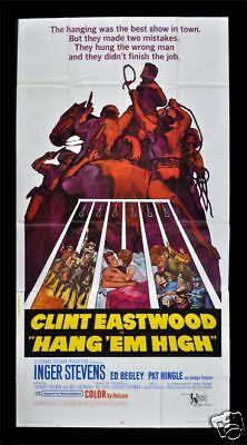 Hang Em High   3Sh Movie Poster 1968 Clint Eastwood