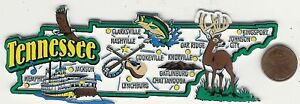 JUMBO  TENNESSEE TN STATE  MAP  MAGNET 7 COLOR  NASHVILLE KNOXVILLE  CHATTANOOGA