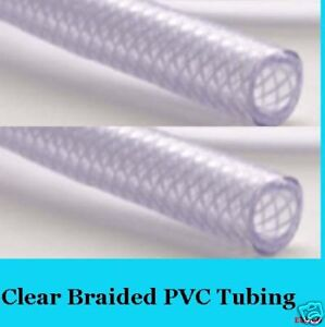 16mm-5-8-Clear-BRAIDED-PVC-TUBING-PIPE-WATER-HOSE-5-MT