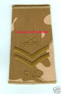 NEW-Desert-DPM-CPL-Rank-Slide-PTI-Crossed-Swords-RLC