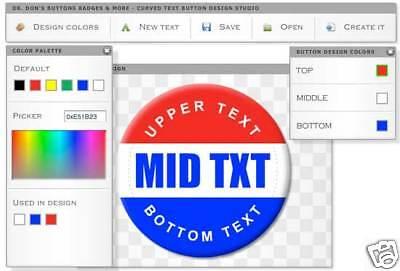 Online Button Design Studio... Easily Create Artwork