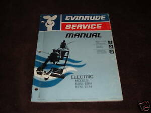 1975 Evinrude Electric Outboard Motor Repair Manual