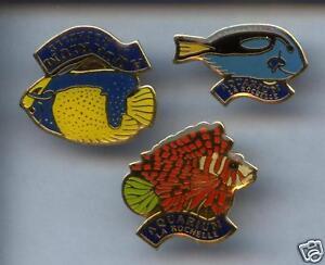 3-RARES-PINS-PIN-039-S-ANIMAL-POISSON-FISH-LA-ROCHELLE-17-1K