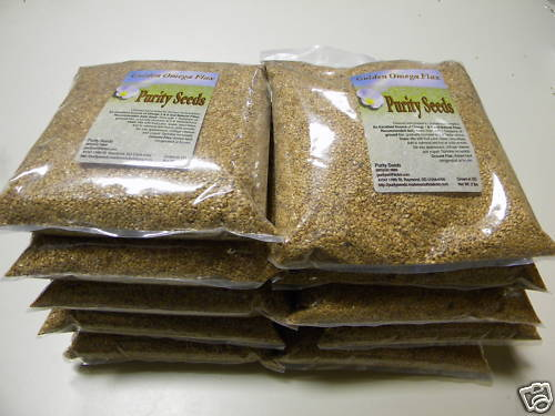 10 - 2 lb Purity Seeds whole golden flaxseed, flax seed, linseed - FREE SHIPPING