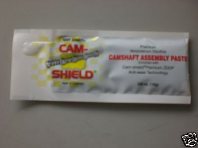 Cam Shield, Zinc Assembly Lube/paste For Camshafts