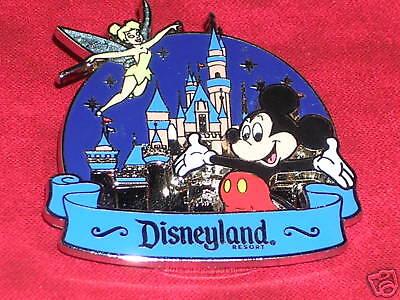 Mickey Mouse & Tinker Bell Sleeping Beauty's Castle Disney Pin*