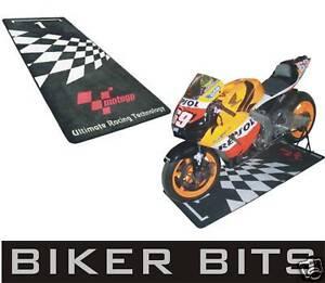 MotoGP Motorbike Garage Pit Mat/Motorcycle Floor Rug