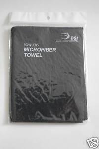 New 2 BSI Microfiber Bowling Towel Black w Free shipping in USA $9.99