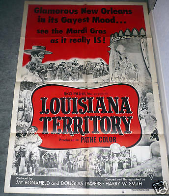 MARDI GRAS/NEW ORLEANS LOUISIANA original1953 Poster one sheet 27x41 DOCUMENTARY