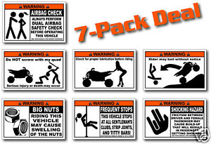 7-Pack-Sport-Quad-ATV-Warning-Stickers-Decal-Raptor-700