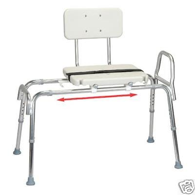 Snap-n-save Sliding Shower Chair Bath Transfer Bench W/ Back 61211 Same Day Ship