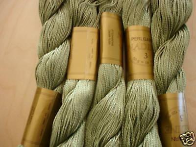 Stickgarn, Perlgarn Stärke 3 - Farbe 93053 grün