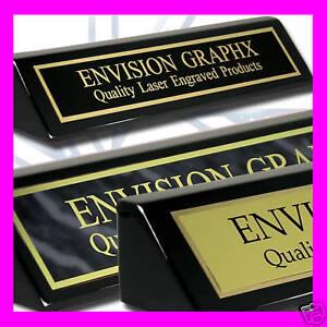 PERSONALIZED CUSTOM BRASS DESK NAME PLATE BLACK GIFT N | eBay