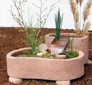 mini teich kaskade springbrunnen brunnen wasserspiel 216kg aus werksandstein ebay. Black Bedroom Furniture Sets. Home Design Ideas