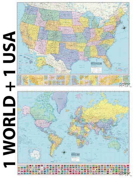 48x78 world classic premier 3d wall map large poster for Classic world map wall mural