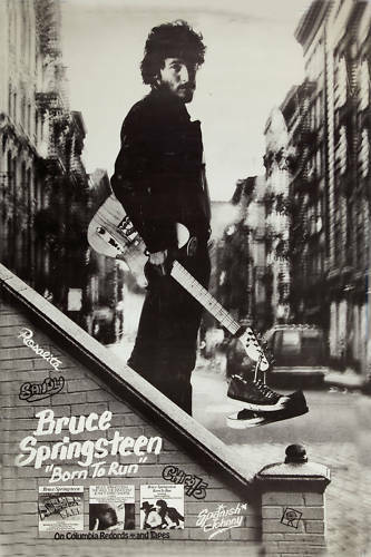 Bruce Springsteen * Born To Run * Columbia Records Poster 1975 LARGE 24x36