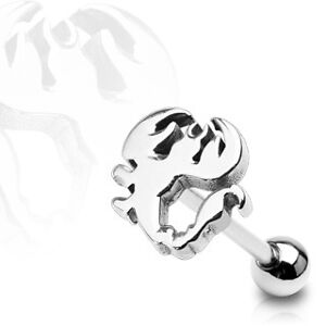 New-Gothic-3D-Scorpion-316L-Steel-Tongue-Bar-Piercing
