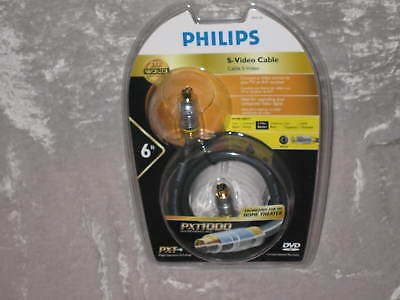 Philips S-video Cable Tv A/v Receiver Home Theater 6 Ft