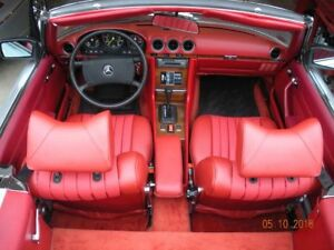 mercedes benz 107 leather seat Covers 450SL 380SL 560SL W107 SL 72-89