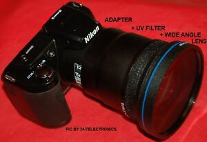 0-43x-WIDE-ANGLE-LENS-UV-FILTER-ADAPTER-TUBE-67mm-for-NIKON-L120-COOLPIX-NEW