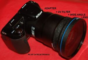 45X-WIDE-ANGLE-LENS-ADAPTER-4-NIKON-L120-COOLPIX-NEW