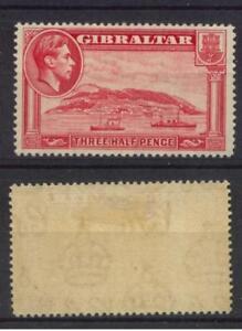 Gibraltar-1938-51-SG-123-1-1-2d-Carmine-P14-MH