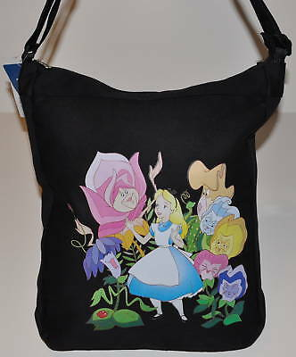ALICE IN WONDERLAND TOTE BAG DISNEY DIAPER/ MESSENGER CANVAS  TOTE NWT dance bag