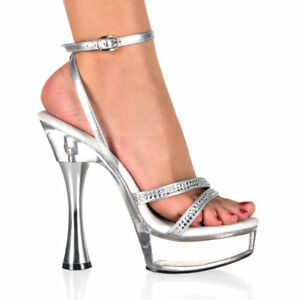 jewell dancer bridal clear platform shoes size 11 ebay