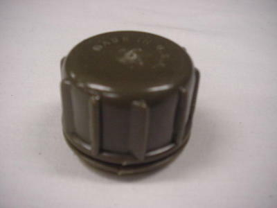 1 & 2 QUART PLASTIC CANTEEN CAP, OD GREEN, NEW