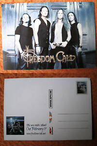 """FREEDOM CALL""""LEGEND OF THE -"""" AUTOGRAMM-WERBEKARTE-2010 - Dresden, Deutschland - FREEDOM CALL""""LEGEND OF THE -"""" AUTOGRAMM-WERBEKARTE-2010 - Dresden, Deutschland"""