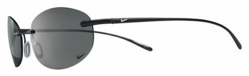Nike Linear Round Titanium Sunglasses, Black Chrome / Dark Grey Polarized