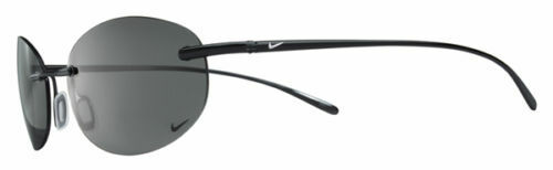 Nike Linear Round Titanium Sunglasses, Black Chrome / Dark Grey Polarized