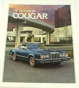 1979 79 Mercury COUGAR BROCHURE XR-7 Brougham Pillared