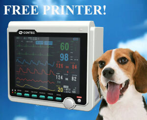 Veterinary-Patient-Monitor-6-Parameters-FREE-PRINTER-NIBP-SPO2-PR-ECG-TEMP-RESP