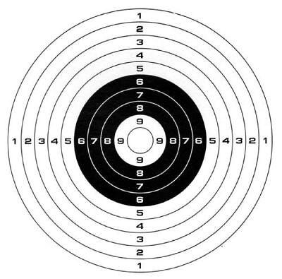 Gamo Air Soft Bb Gun Paper Bullseye Target Targets 100 Fast Ship