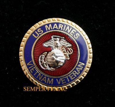 US MARINES VIETNAM VETERAN SEAL HAT PIN VET POW MIA USS FMF MAR DIV