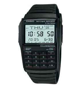 Casio DBC32-1A Mens 25 PAGE Classic Resin Databank Calculator Watch Illuminator