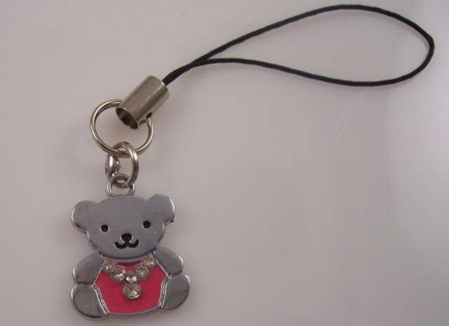 Teddy Bear cell phone charm or purse charms