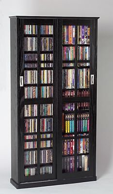 cd cabinet with doors sliding glass door 700 cd 336 dvd storage cabinet new ebay 13291