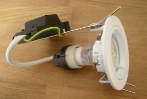 10 x LED Downlight Kit fixed white Fitting GU10  38 LED lamp & Gu10 holder =30W