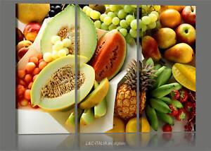 frutta-tropical-3-QUADRI-STAMPA-TELA-ARTE-ARREDO-CASA