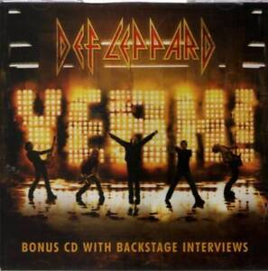 Def Leppard Yeah! Bonus CD With Backstage Interview USED
