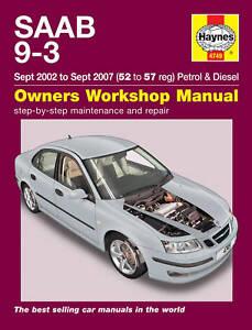 Haynes Manual 4749 Saab 9-3 93 2.0T Petrol 1.9TiD Diesel Linear Vector 2002-2007