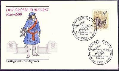 Berlin 1988: Der große Kurfürst ! FDC der Nr 813 mit zwei Ersttagsstempeln! 1603