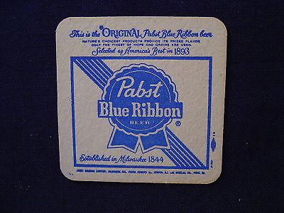 Pabst blue ribbon beer cardboard coaster vintage 3 3 8 ebay - Cardboard beer coasters ...