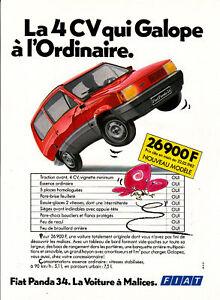 publicit ancienne voiture fiat panda 34 1982 ebay. Black Bedroom Furniture Sets. Home Design Ideas