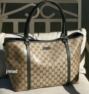 NEW-Authentic-GUCCI-Crystal-Canvas-JOY-Tote-Bag-Handbag
