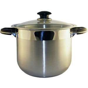 concord 10 qt stainless steel stock pot heavy stockpot ebay. Black Bedroom Furniture Sets. Home Design Ideas