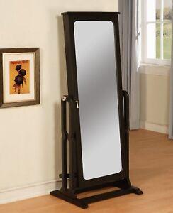 powell black cheval jewelry armoire storage wardrobe mirror floor furniture ebay. Black Bedroom Furniture Sets. Home Design Ideas